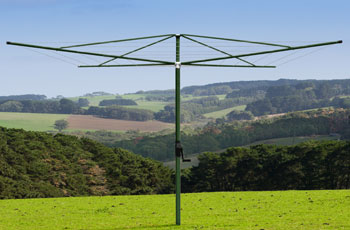 fixed rotary clothes line