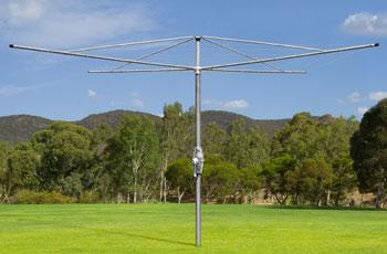 fixed rotary clothesline